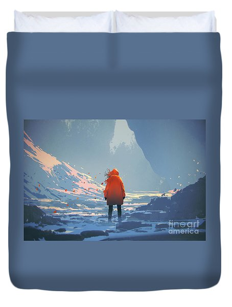 Alone In Winter Duvet Cover