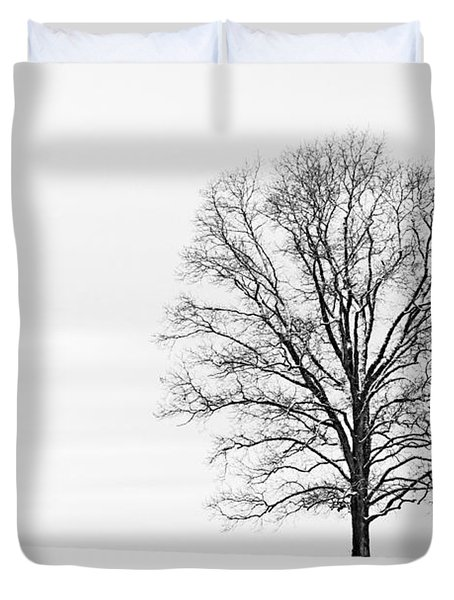Alone On A Hill Duvet Cover