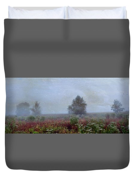 Alone On A Hill Duvet Cover by John Rivera