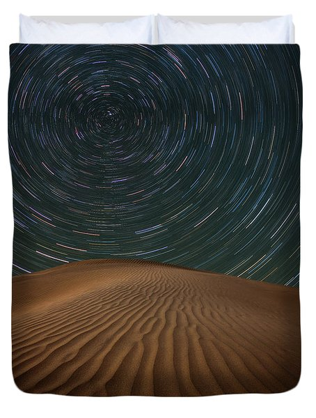 Duvet Cover featuring the photograph Alone On The Dunes by Darren White
