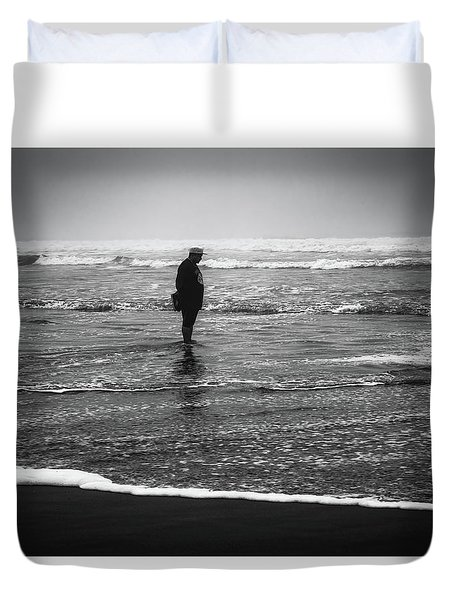 Alone With The Sea Duvet Cover