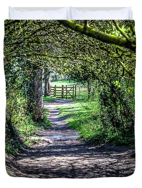 Along An English Footpath 1 Duvet Cover