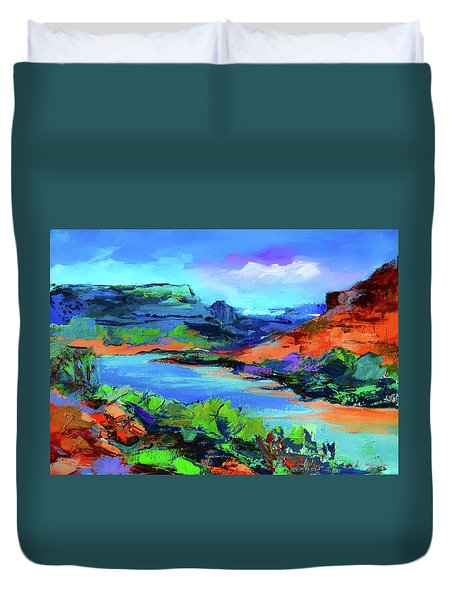 Along Colorado River - Utah Duvet Cover