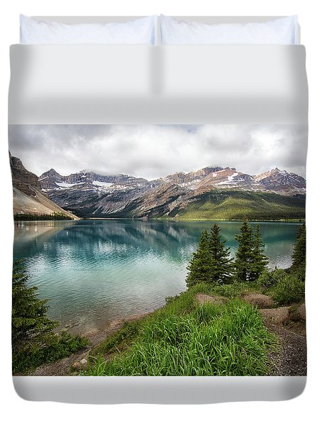 Along Icefields Parkway Duvet Cover