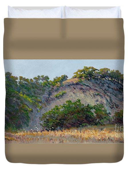 Along Jalama Creek Duvet Cover