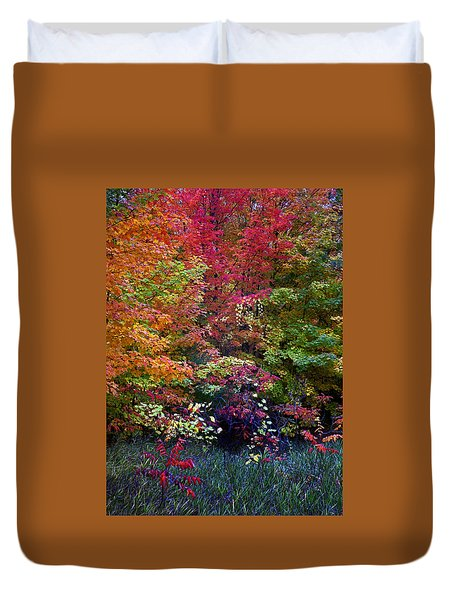 Along M37 In Autumn 2014 Duvet Cover