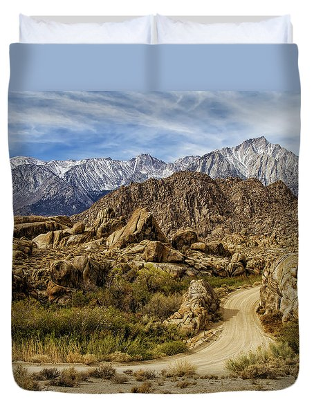 Along Movie Road Duvet Cover