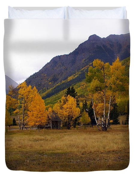 Along The Alpine Loop 2 Duvet Cover by Marty Koch