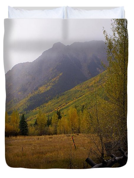 Along The Alpine Loop Duvet Cover by Marty Koch