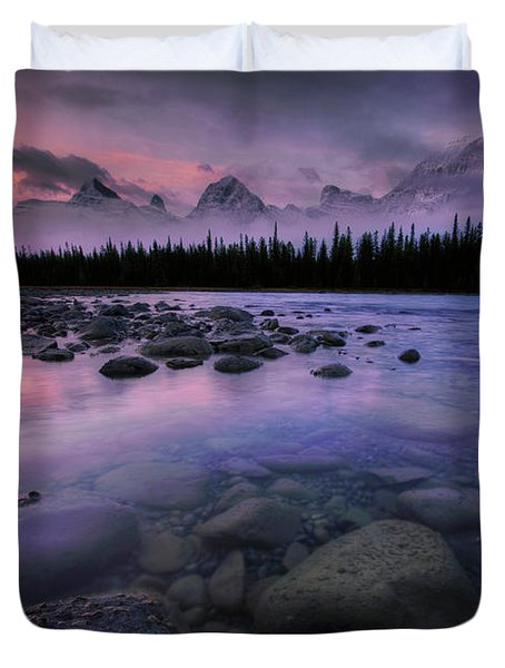 Along The Athabasca Duvet Cover