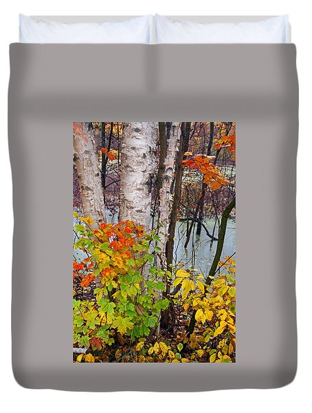 Along The Breezeway In Autumn 2014 Duvet Cover