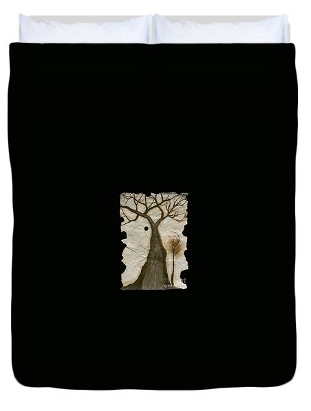 Along The Crumbling Fork In The Road Of The Tree Of Life Acfrtl Duvet Cover