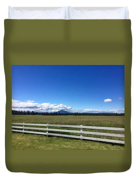 Along The Fence Line Duvet Cover