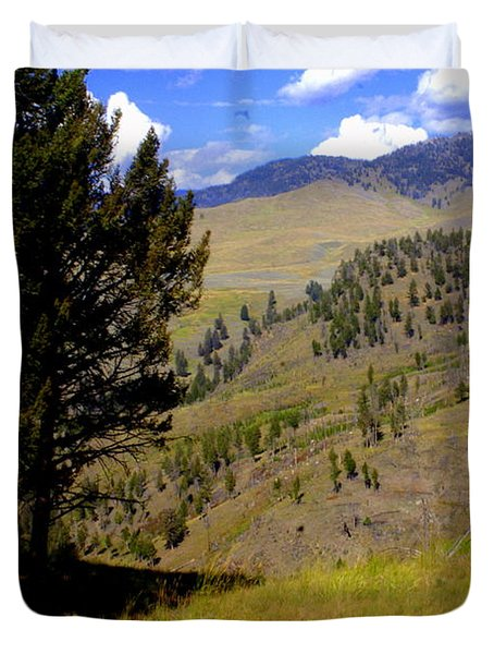 Along The Hell Roaring Creek Trail Duvet Cover by Marty Koch
