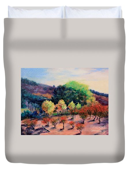 Along The Highway Duvet Cover by Marcia Dutton