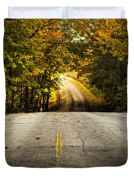 Along The La Aqua Na Circle Road Duvet Cover