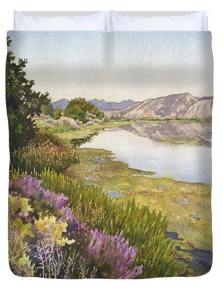 Along The Oregon Trail Duvet Cover