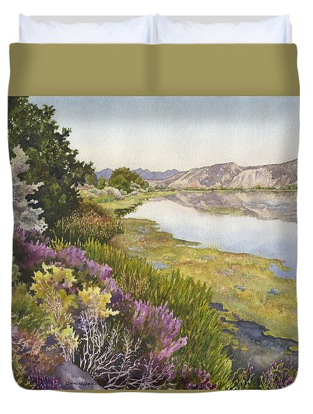 Along The Oregon Trail Duvet Cover