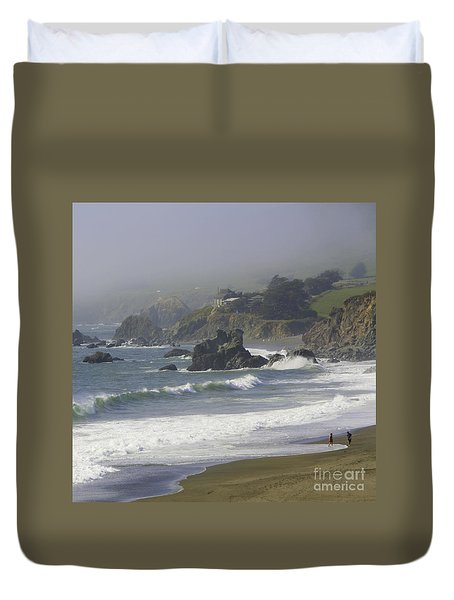 Along The Pacific #2 Duvet Cover