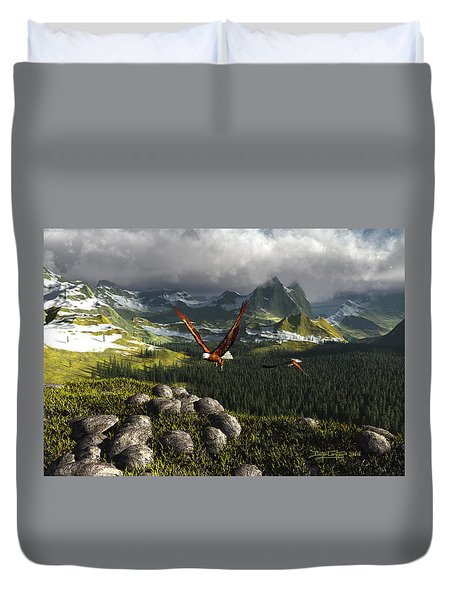 Along The Pinnacles Of Time Duvet Cover