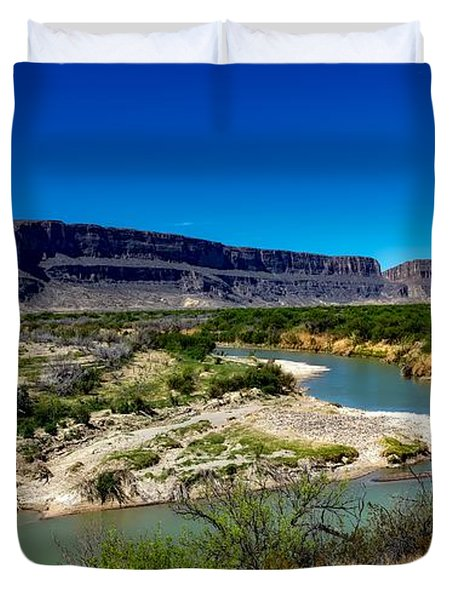 Along The Rio Grande River Duvet Cover