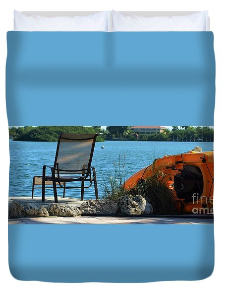 Duvet Cover featuring the photograph Along The Shore by Pamela Blizzard