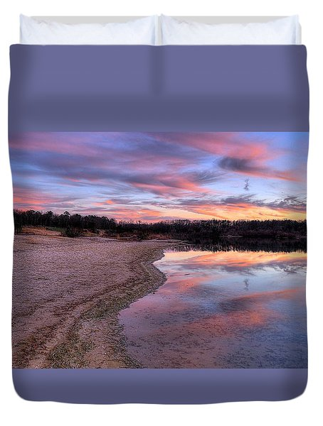 Along The Shoreline Duvet Cover
