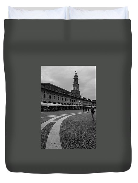 Along The Square  Duvet Cover