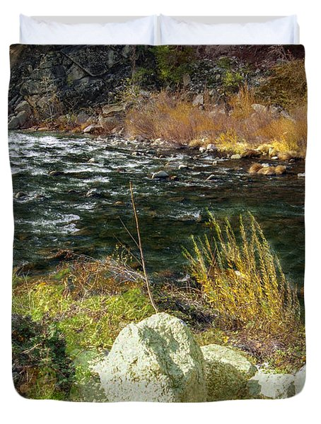 Along The Stream Duvet Cover