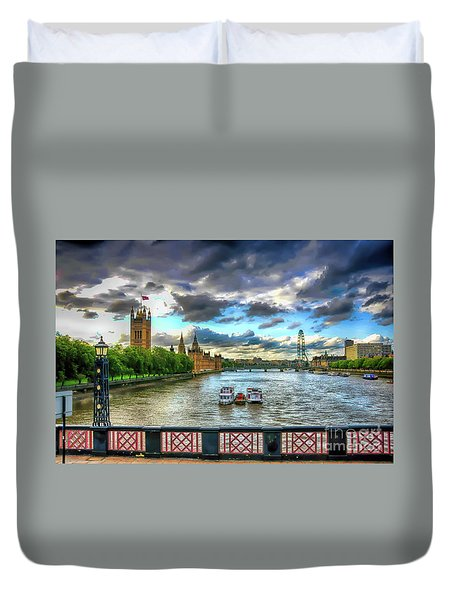 Along The Thames Duvet Cover