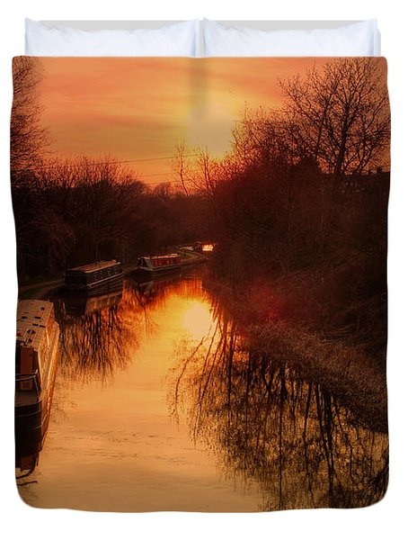 Along The Tow Path Duvet Cover