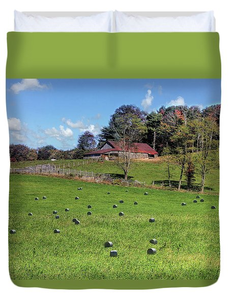 Duvet Cover featuring the digital art Along The Tracks by Sharon Batdorf