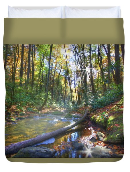 Along The Trail In Georgia Duvet Cover