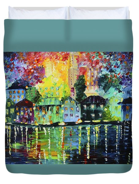Along The Water Duvet Cover