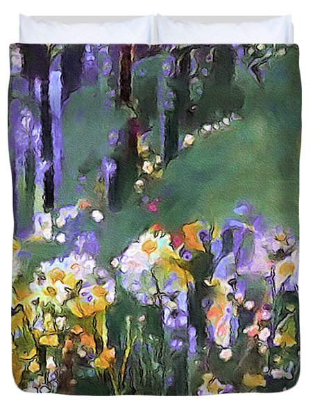 Along The Woodland Path Duvet Cover