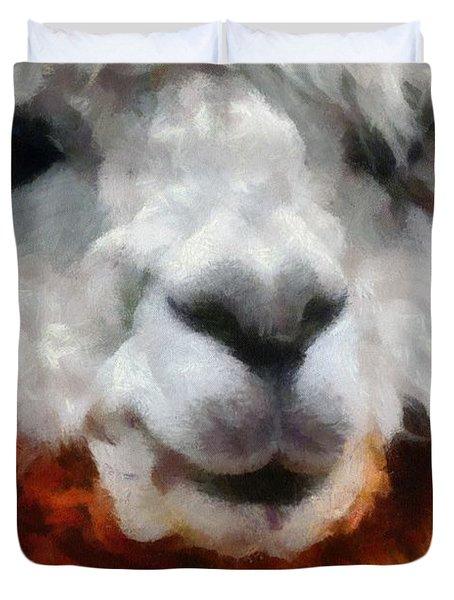 Alpaca Duvet Cover by Michelle Calkins