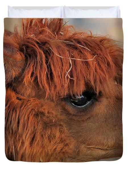 Alpaca Portrait Duvet Cover