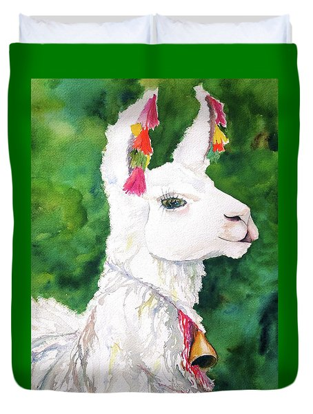 Alpaca With Attitude Duvet Cover