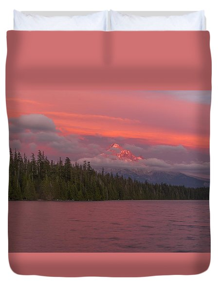 Alpenglow At Lost Lake Duvet Cover