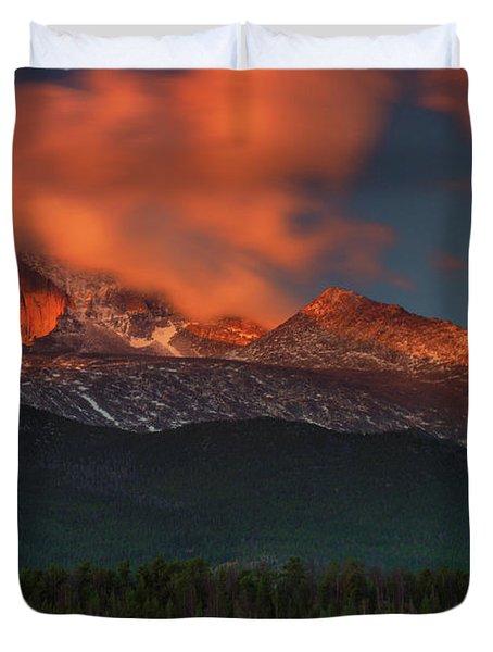 Alpenglow Sunrise Duvet Cover