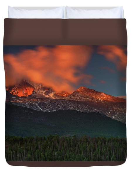 Alpenglow Sunrise Duvet Cover