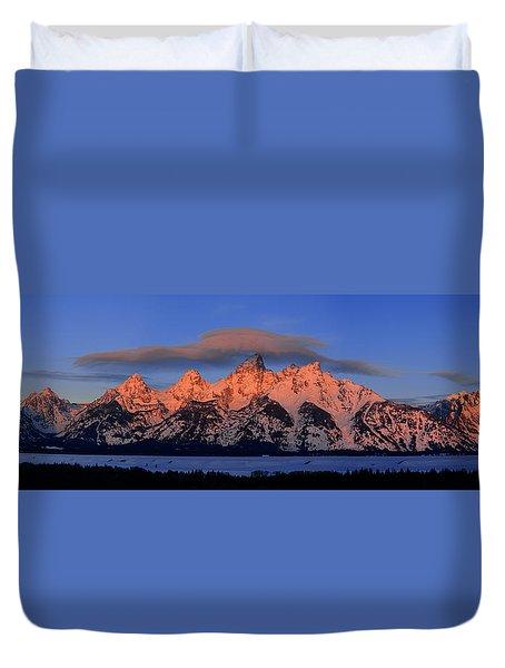 Alpenglow Tetons 2 Duvet Cover