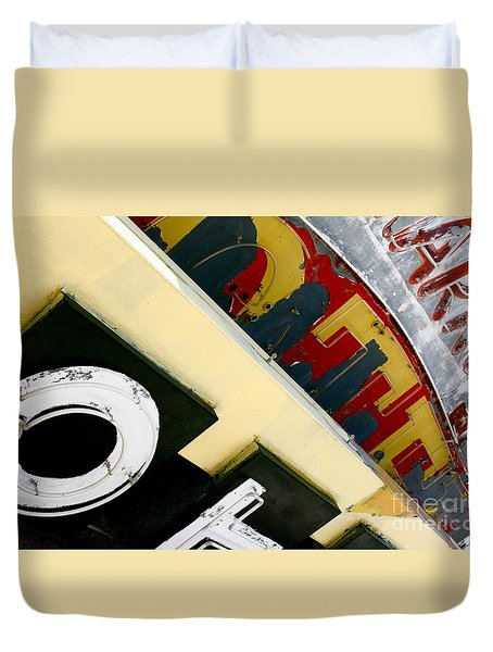 Alpha Bitz Duvet Cover