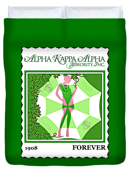 Alpha Kappa Alpha Duvet Cover by Lynda Payton
