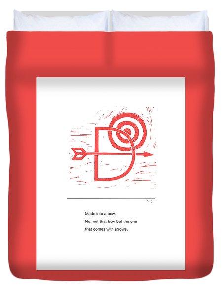 Alphabet Haiku Letter D Duvet Cover