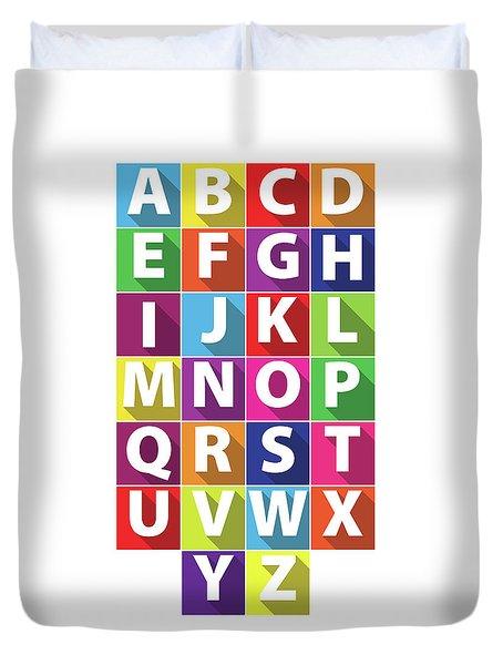 Alphabet Duvet Cover by Samuel Whitton