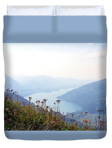 Alpine Flora On Top Of Schynige Platte Duvet Cover