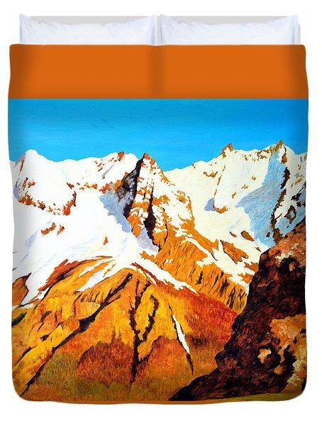 Alpine Landscape Duvet Cover