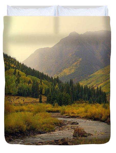 Alpine Loop Fall Duvet Cover by Marty Koch