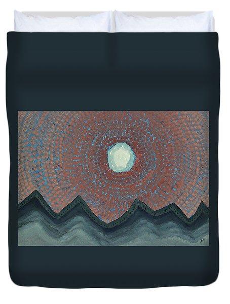 Alpine Resonance Original Painting Duvet Cover